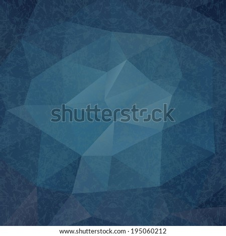 Abstract Triangle Geometrical Blue Old Style Background,  Raster Version - stock photo