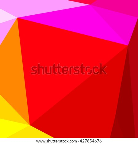 Abstract Triangle Geometrical Multicolored Background - stock photo