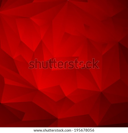 Abstract Triangle Geometrical Red Background,  Raster Version - stock photo