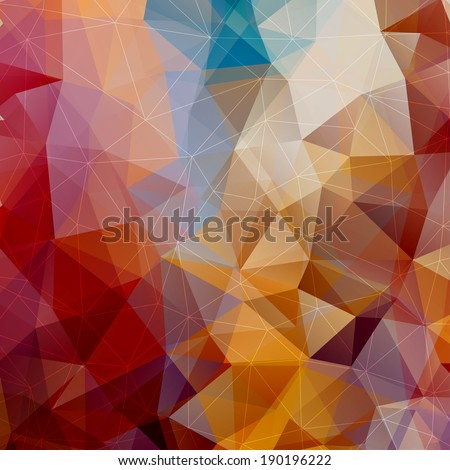 Abstract Triangle Multicolored Background, Raster Version - stock photo