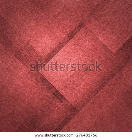 abstract triangle shapes red background with texture - stock photo