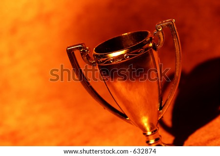 Abstract Trophy Cup - stock photo