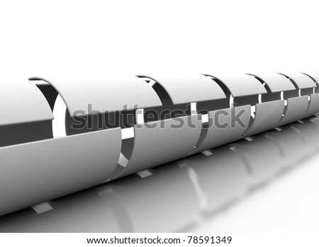 Abstract tunnel - stock photo