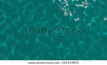 Abstract turquoise water sea for background - stock photo