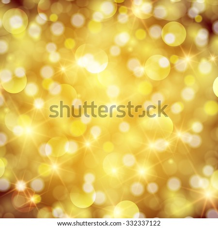 Abstract twinkled bright background with bokeh defocused red lights. - stock photo