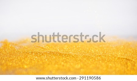 Abstract twinkled bright background with bokeh defocused white and black lights - stock photo