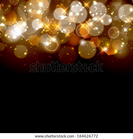 Abstract twinkled christmas background. - stock photo