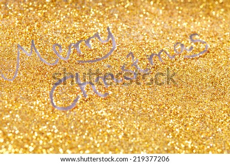 abstract  twinkled  christmas background with glitter - stock photo