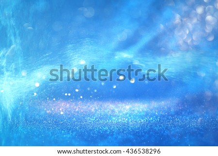 abstract under the sea background with glitter overlay and textures. aqua, blue and turquoise. defocused   - stock photo