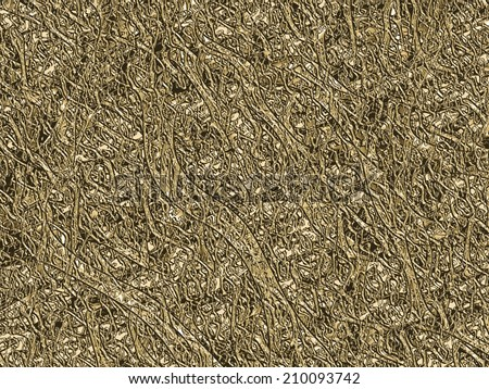 Abstract unusual texture background. Computer generated golden brown abstract fractal background with the strange convoluted texture. - stock photo