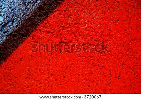 Abstract up close textured graffiti - stock photo
