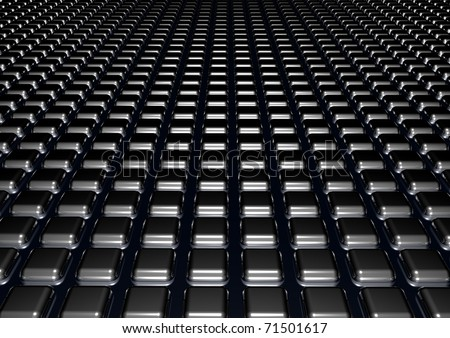 abstract urban background with 3d blocks - stock photo