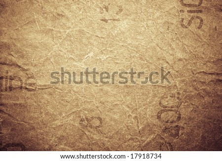 Abstract urban crumpled paper background with text and free design elements - stock photo