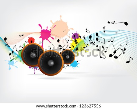 Abstract urban music background with grunge elements - stock photo
