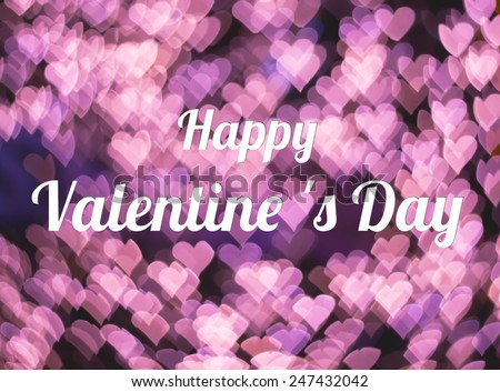 Abstract valentines day on light pink heart, I love you, Heart bokeh - stock photo
