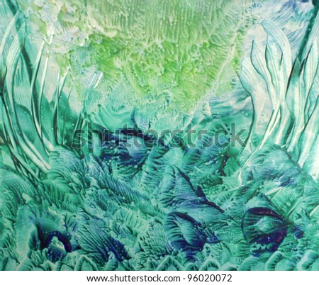Abstract vax painting background - stock photo