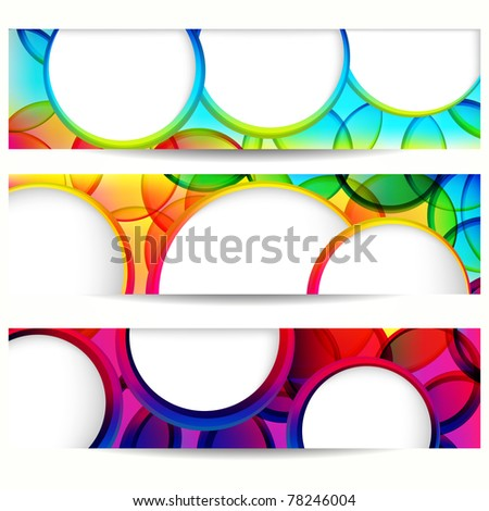 Abstract vector banner with forms of empty frames.