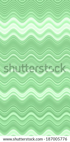 Abstract vertical background with a detailed wavy pattern in high resolution in light green color