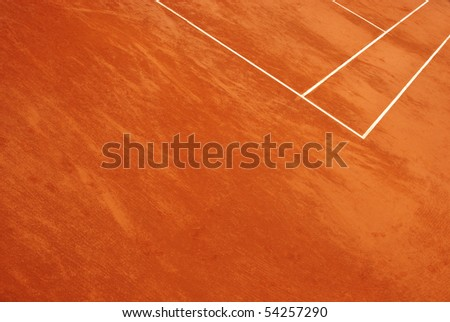 Abstract view of a tennis court in clay - stock photo
