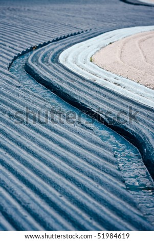 abstract view of blue stripes - stock photo