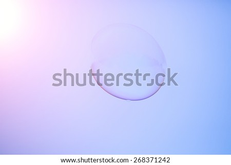 abstract view of bubble,material for designers - stock photo