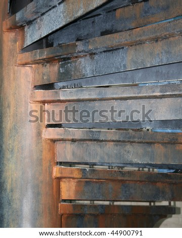 Abstract View Of Circular Steel Staircase