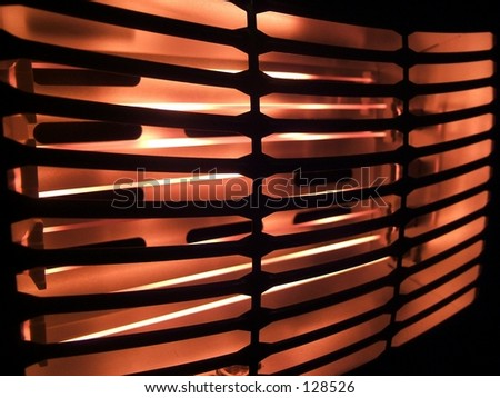 Abstract view of heater - stock photo