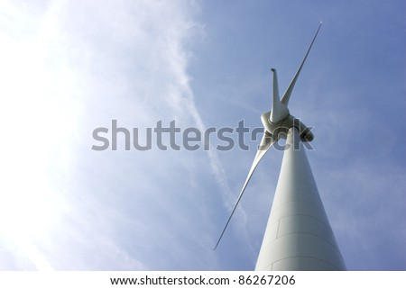 Abstract view of Windturbine