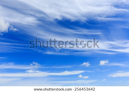 Abstract view on nice summer sky with clouds - stock photo