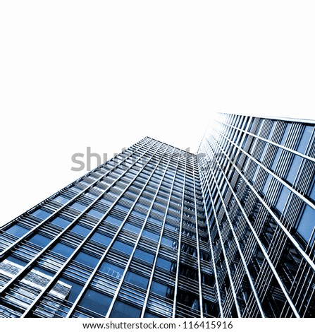 abstract views of modern buildings - stock photo