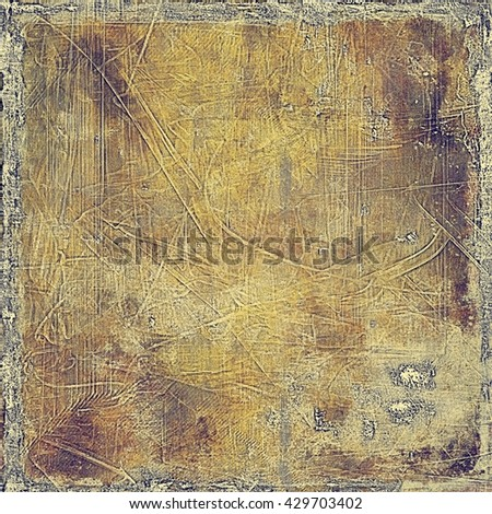 Abstract vintage background with faded grungy texture. Aged backdrop with different color patterns: yellow (beige); brown; gray; purple (violet) - stock photo