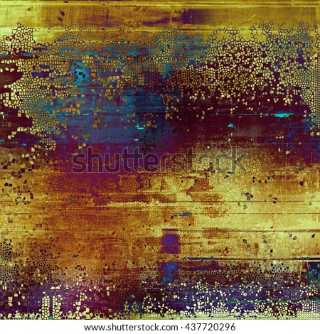 Abstract vintage background with faded grungy texture. Aged backdrop with different color patterns: yellow (beige); brown; blue; red (orange); purple (violet); pink - stock photo
