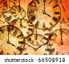 abstract vintage clock background - stock photo