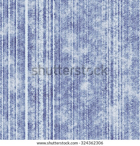 Abstract vintage distressed and washed blue denim fabric textured background. Seamless pattern. - stock photo