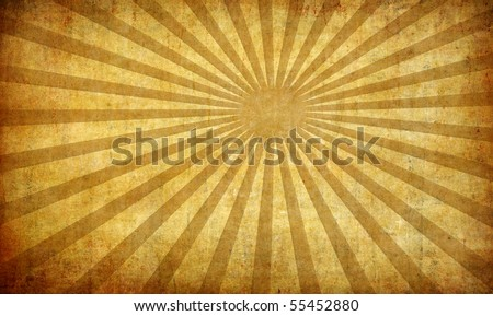 abstract vintage grunge background with sun rays for multiple uses