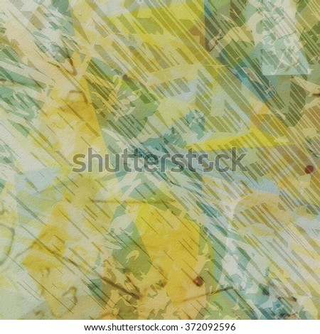 Abstract vintage grunge old yellow wall background, texture - stock photo