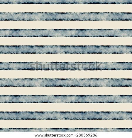 Abstract vintage grungy textured  breton stripe. Seamless pattern. - stock photo