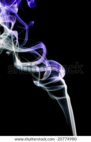 Abstract violet smoke. Isolated on a black background