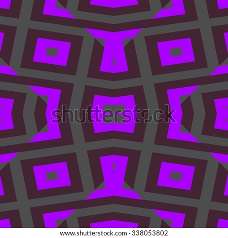 Abstract violet symmetrical geometric pattern in cubist style - stock photo