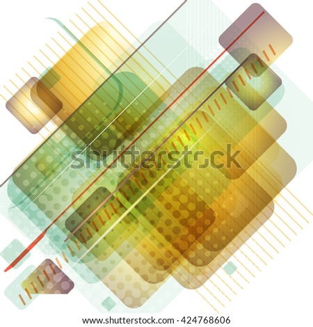 Abstract virtual space technology background. Raster version. - stock photo