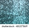 Abstract wallpaper illustration of electronic circuitry patterns - stock vector