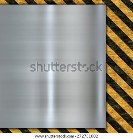 abstract warning sign - stock photo
