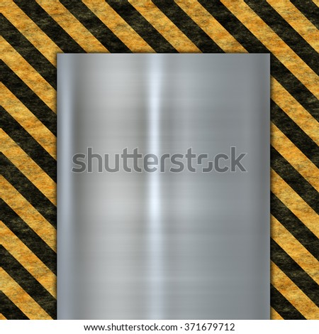 abstract warning sign - stock photo