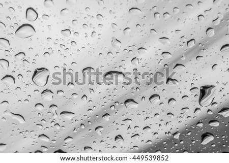 abstract  water drop on mirror in black and white : for background use