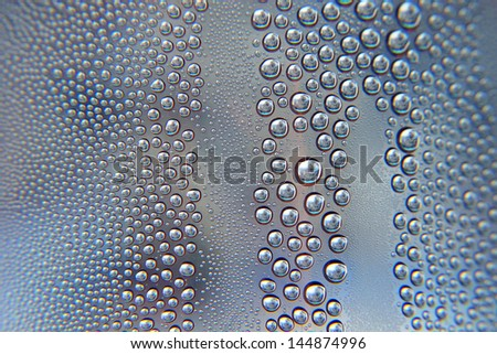 Abstract water drops background, shallow DOF