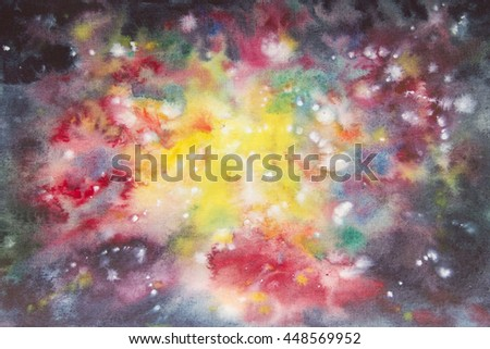 Abstract watercolor art hand paint. Watercolor background
