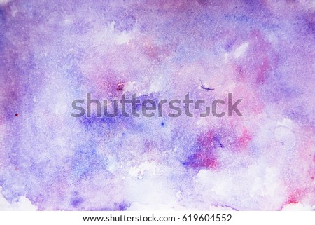 Abstract watercolor background blue purple and magenta colors bright wallpaper