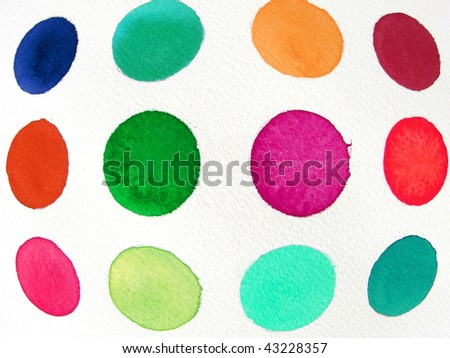 abstract watercolor background circles and ovals