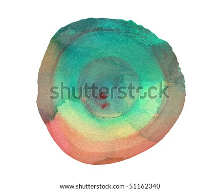 abstract watercolor background design circle - stock photo