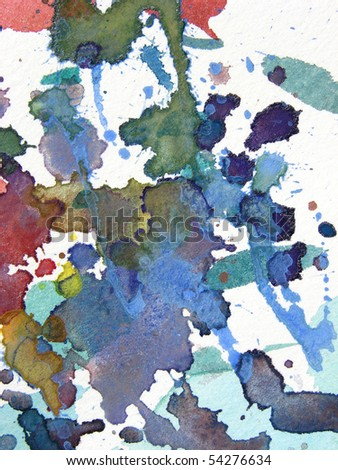 abstract watercolor background design splatter